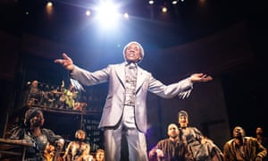 André De Shields as Hermes in Hadestown at the National Theatre.