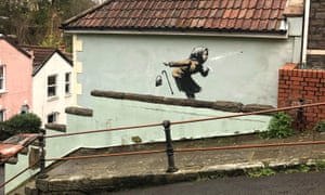 Aachoo!, the new Banksy artwork in Bristol.