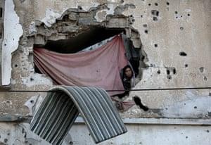 Al Shejaeiya, Gaza strip: A Palestinian woman