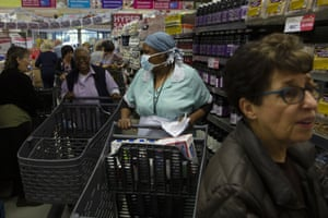 Johannesburg, South Africa: shoppers make their way through a supermarket