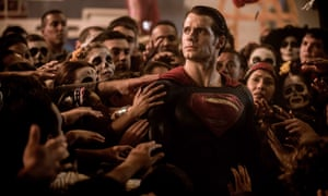 Henry Cavill as Superman … 'Characters intone expository dialogue in a manner that suggests they are heavily constipated.'