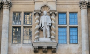 the statue of Cecil Rhodes due to be removed from Oriel College, Oxford.