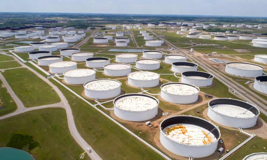 America's largest oil storage facility, in Cushing, Oklahoma