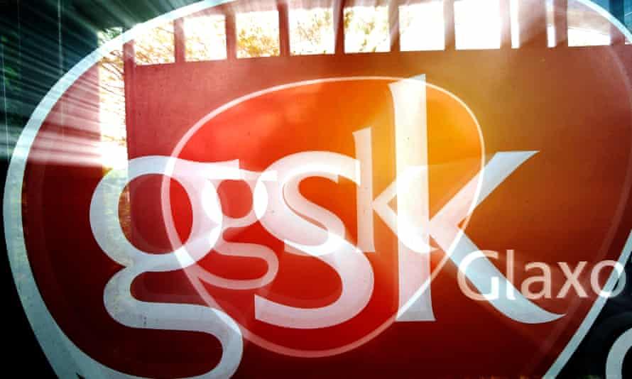 GlaxoSmithKline logo at its headquarters
