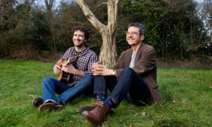 'He turned my base metal into gold' … George Monbiot, right, with Ewan McLennan on Hampstead Heath, London.
