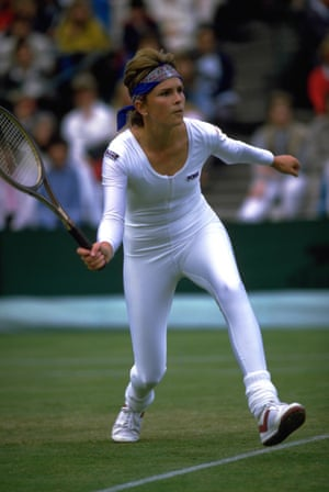 It was the 80s – if in doubt, look to the leg warmers – but American tennis player Anne White's tight unitard, which she wore to play in 1985, still took people off guard. Officials reportedly asked her to dress more in line with tradition the following day.