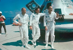 The Apollo 11 astronauts after their return, from left: Buzz Aldrin, Neil Armstrong and Michael Collins.