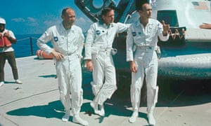 Apollo 11 astronauts in 1969: (l-r) Buzz Aldrin, Neil Armstrong and Michael Collins.