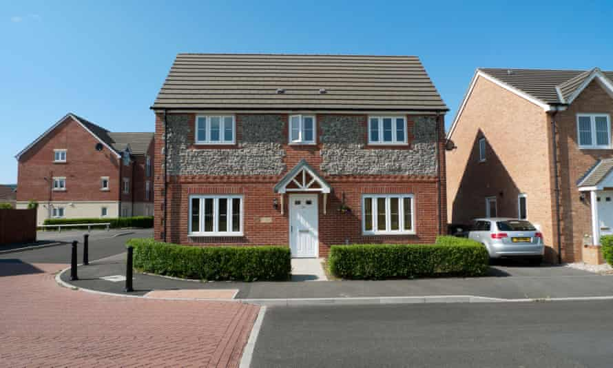 New build housing in Llanishen Cardiff Wales