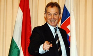 Tony Blair in Budapest in 2005.