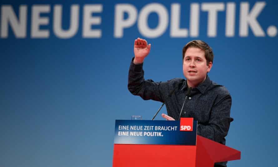 Kevin Kühnert, leader of the SPD's youth branch