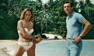 """""""JAMES BOND: DR. NO<br>URSULA ANDRESS & SEAN CONNERYFilm 'JAMES BOND: DR. NO' (1962)Directed By TERENCE YOUNG05 October 1962CTC7474Allstar/Cinetext/UNITED ARTISTS**WARNING** This photograph can only be reproduced by publications in conjunction with the promotion of the above film. For Editorial Use Only."""""""