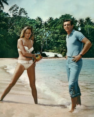 Connery with Ursula Andress in his first outing as Bond, 1962's Dr No.