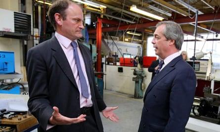 Nigel Farage (R) with Douglas Carswell