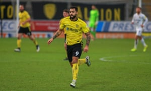 Kane Hemmings in action for Burton Albion earlier this year.