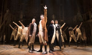 Hamilton on the West End in London, for which Jamael Westman won best actor in a musical.