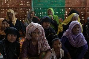 Participants of a Rohingya women-friendly group in Potibunia camp.