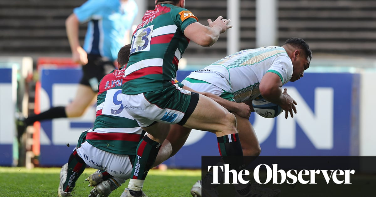 Sam Matavesi helps Northampton hold on for derby honours at Leicester