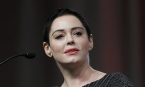 Rose McGowan speaking at the inaugural Women's Convention in Detroit, 24 May 2018.