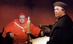 Historical epic … Orson Welles as Cardinal Wolsey and Paul Scofield as Thomas More in A Man for All Seasons.