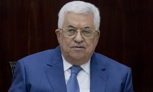 Mahmoud Abbas: the Palestinian president held a series of phone calls with world leaders on Sunday.