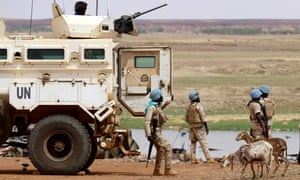 Senegalese soldiers with the UN peacekeeping mission in Mali Minusma patrolling in Gao in 2019.