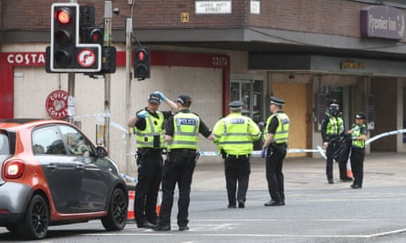 Police at the scene on Argyle Street in Glasgow
