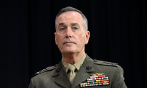 General Joseph Dunford said he wanted 'a consensus on national security'.
