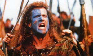 Mel Gibson as William Wallace in Braveheart.