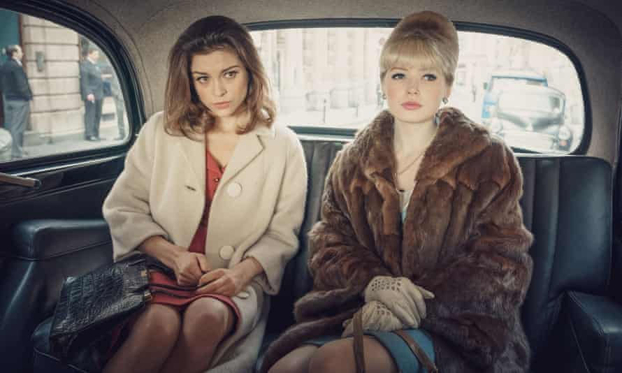 Sophie Cookson and Ellie Bamber as Christine Keeler and Mandy Rice-Davies in The Trial of Christine Keeler
