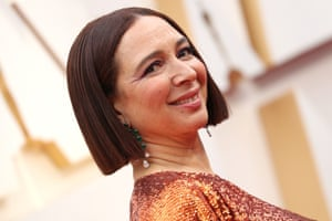 Maya Rudolph at the Academy Awards in Los Angeles on 9 February.