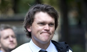Former New Zealand cricketer Lou Vincent arrives at Southwark Crown Court in London to give evidence in Chris Cairns' trial for perjury.