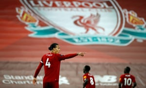 Virgil van Dijk's continued excellence helped prevent Liverpool from being exposed by balls over his side's high press.