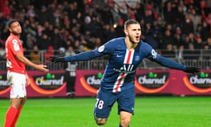 Mauro Icardi scored a late winner for PSG against Brest this weekend.
