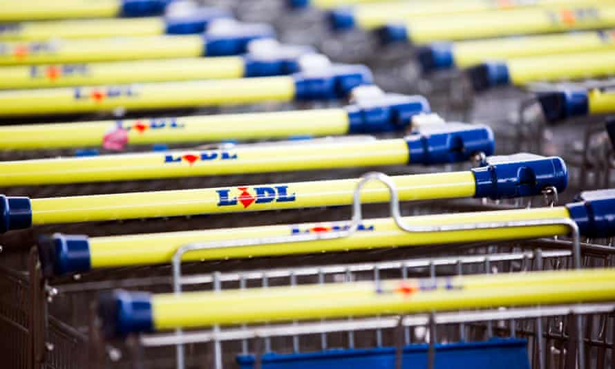 Photograph of Lidl trolleys