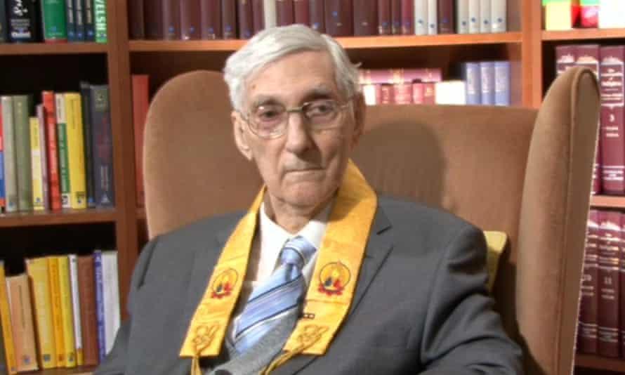 'Deep regret': Dennis Lingwood, now frail at 91, is the founder of the Triratna order.