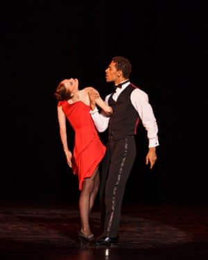 The excellent Delia Mathews and Tyla Singleton in Birmingham Royal Ballet's Nine Sinatra Songs