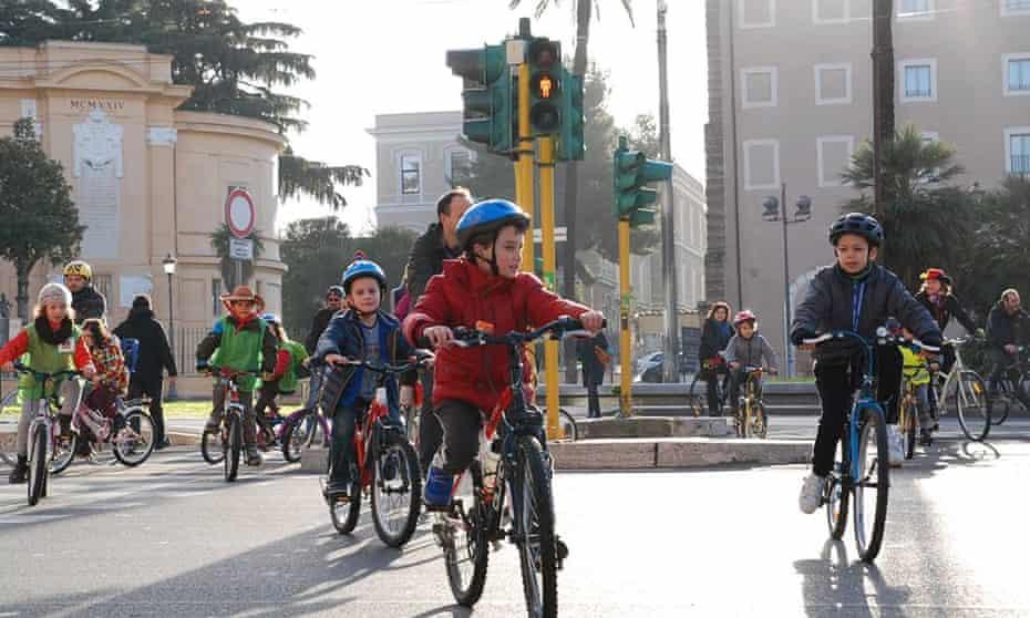 The Bike to School initiative in Rome, Italy