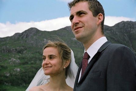 Jo Cox on her wedding day with her husband Brendan.