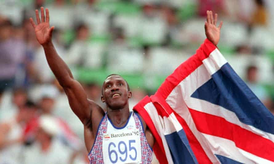 In his pomp: Linford Christie after winning the 100m gold medal in Barcelon.