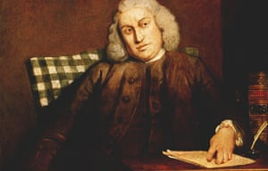 detail from Joshua Reynolds's portrait of Samuel Johnson, very possibly at work on his dictionary.
