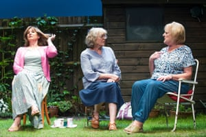 Deborah Findlay as Sally, Kika Markham as Lena and June Watson as Vi. Escape Alone