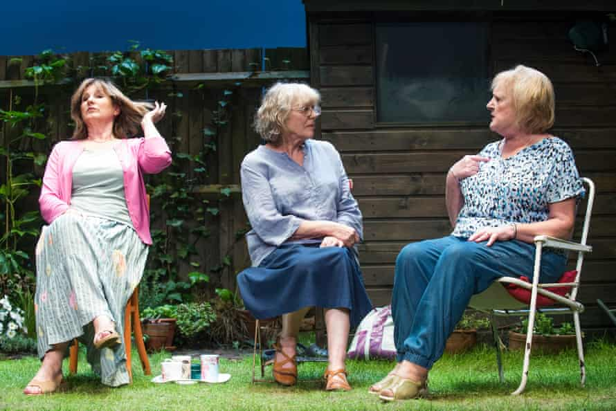 Deborah Findlay as Sally, Kika Markham as Lena and June Watson as Vi. Escape Alone