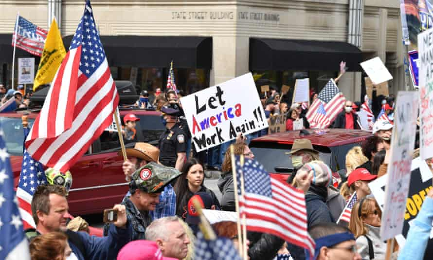 Hundreds protest in a crowded 'reopen Pennsylvania' demonstration in April