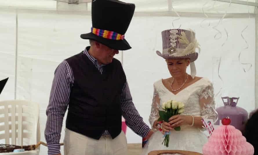 Bob and Amanda's wedding near Chester in 2015.