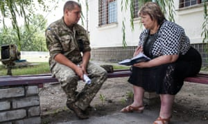 Yadviga talks to a Ukrainian soldier who was taken prisoner by separatists about what happened to her son.