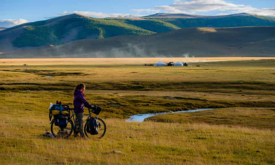 Cycling in the Mongolian steppe