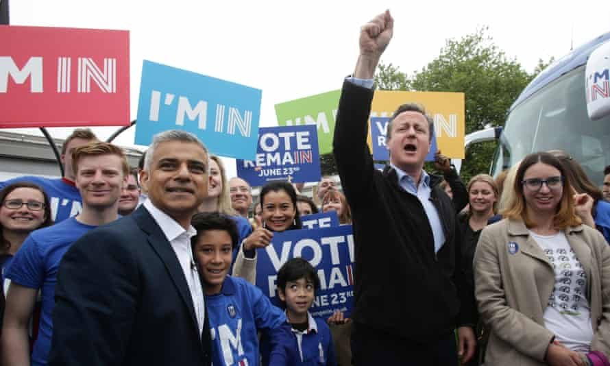 Sadiq Khan Joins Forces with David Cameron To Campaign For Britain To Remain In Europe