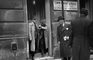 A 17-year-old Herschel Grynszpan under arrest for the murder of German diplomat Ernst Vom Rath.