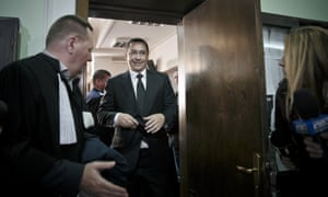 Victor Ponta after an appearance at the high court in Bucharest last year.